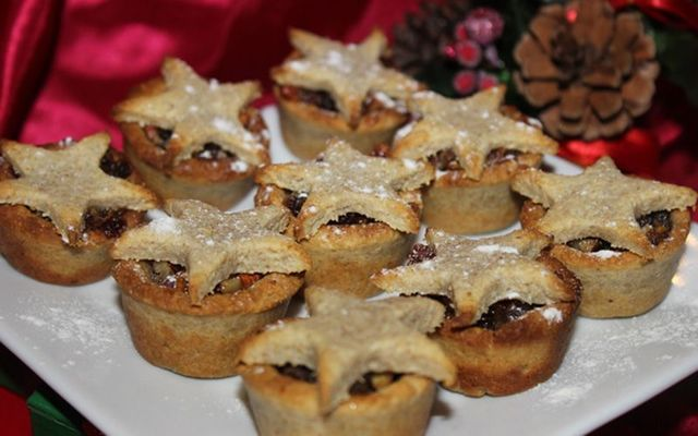 Delicious nutty mince pies.
