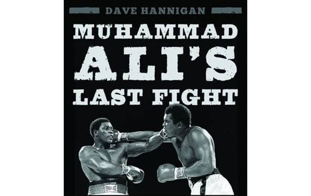 "Portion of the book cover for ""Drama in the Bahamas – Muhammad Ali's Last Fight."""