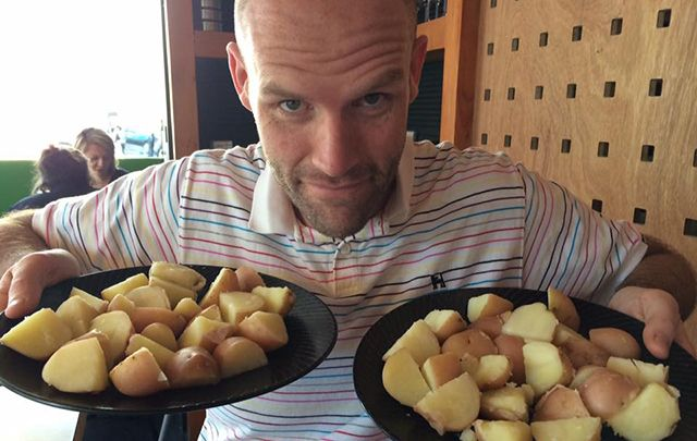 Australian man Andrew Taylor has almost completed a year-long diet of potatoes only.