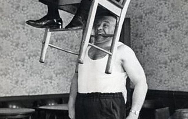 "Ireland's strongest man Michael ""Butty"" Sugrue."