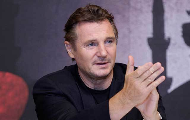 "Irish actor Liam Neeson starts in the upcoming ""Silence.\"""