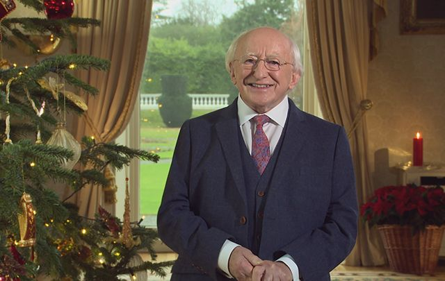 Irish President Michael D. Higgins shares his Christmas message to Ireland.