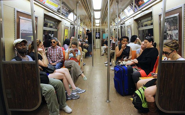 """New York City subway: """"Being Irish, we know all about forced attempts to make us conform and speak English, or we should."""""""