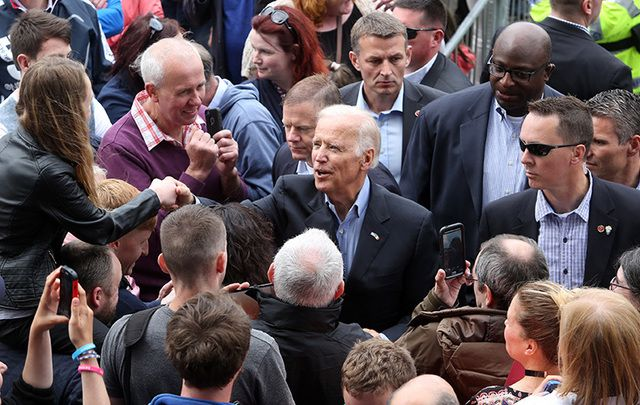 Vice President Joe Biden among the crowds in Ireland.