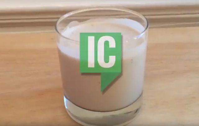 Enjoy a delicious glass of homemade Irish cream.