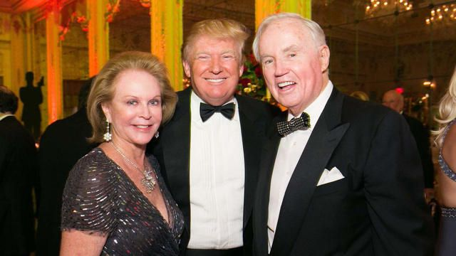 Eileen Burns, Donald J. Trump and Brian P. Burns photographed at the Policemen's Ball.