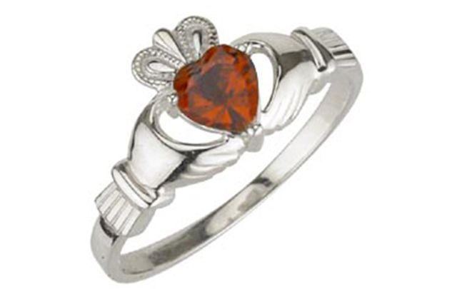 January's Claddagh Birthstone