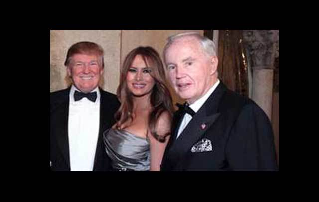 Brian Burns with Donald and Melania Trump.