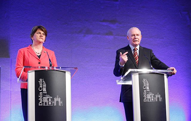 First Minister Arlene Foster and former Deputy First Minister Martin McGuinness.