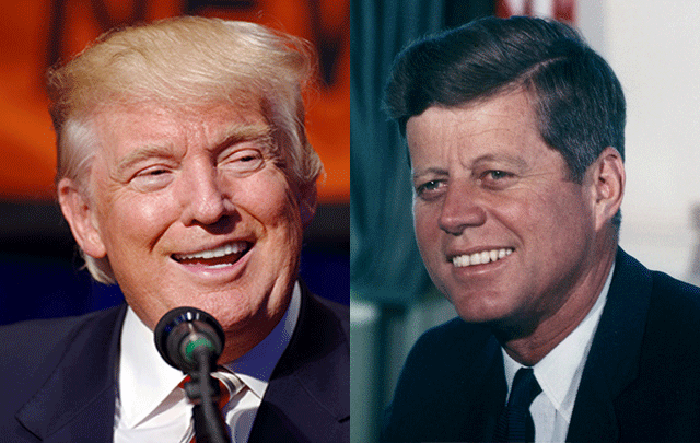 What do Donald Trump and JFK have in common? Quite a lot, one historian has claimed.