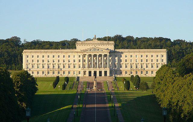 Stormont government building in Belfast.