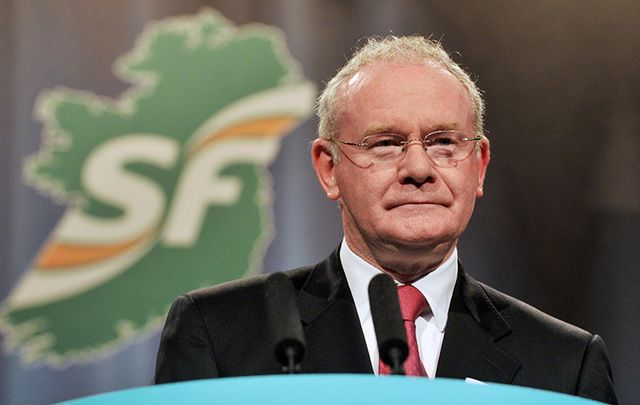 Former First Deputy and Sinn Fein leader Martin McGuinness.