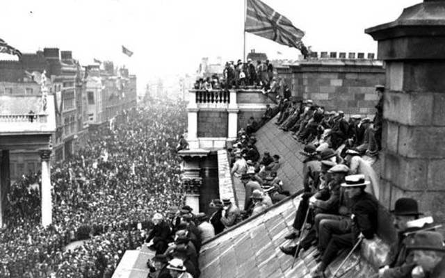 The Victory Parade in Dublin, 1919.
