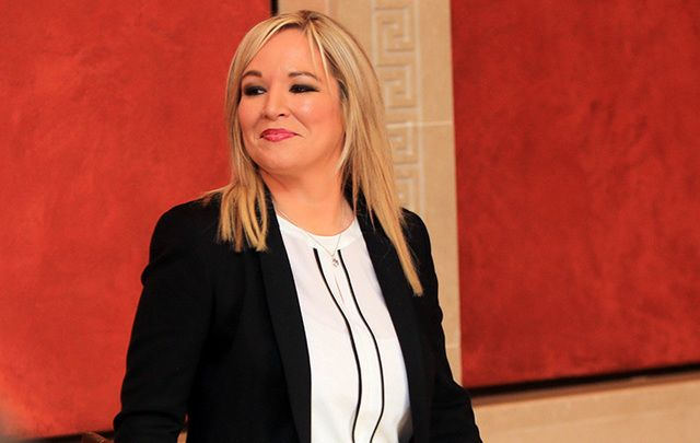 The new leader of Sinn Fein in Northern Ireland, Michelle O\'Neill.