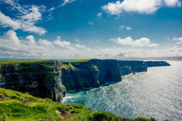 Scenic view of the Cliffs of Moher in County Clare