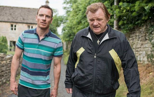 Michael Fassbender and Brendan Gleeson in Trespass Against Us.