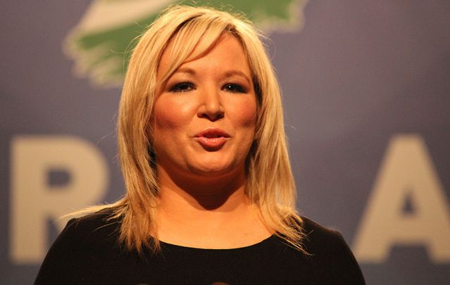 The new leader of Sinn Fein in Northern Ireland Michelle O'Neill.