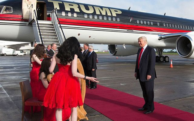 That time, back in 2014, when Ireland\'s Minister for Finance literally rolled out the red carpet for Donald Trump when he arrived at Shannon Airport.