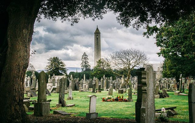 The sacred ground of Glasnevin Cemetery in Dublin.