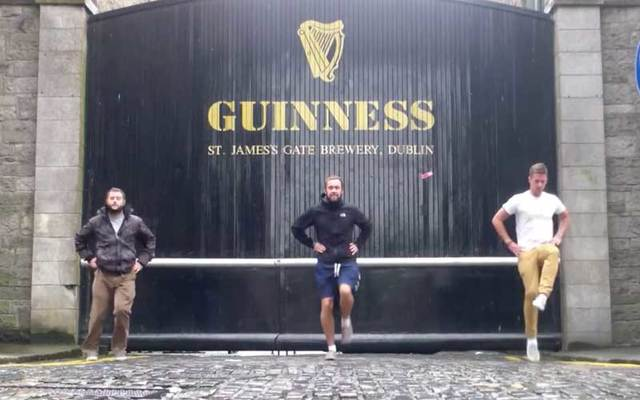 These Irish lads are dancing around the world in a bid to get the attention of singer Ed Sheeran.