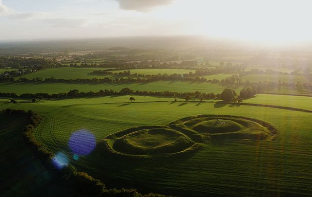 The amazing countryside at the Hill of Tara.