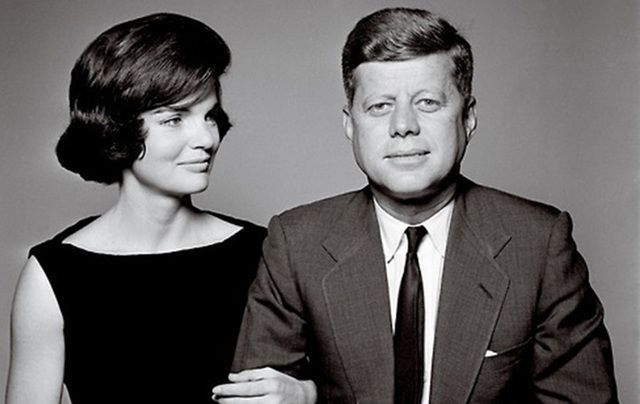 Jackie Kennedy and John F. Kennedy.