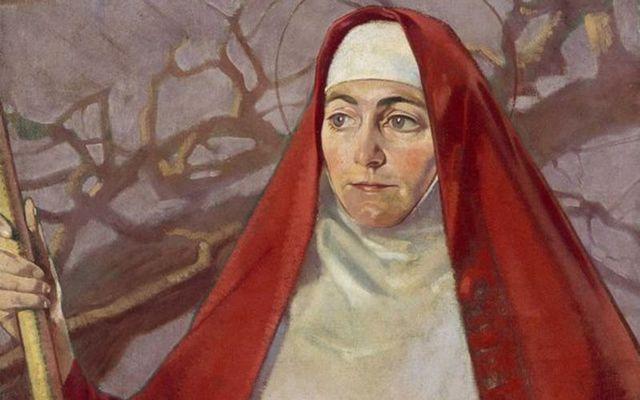 The Celtic heroine Brigid, a portrait of the Saint by Patrick Joseph Tuohy.