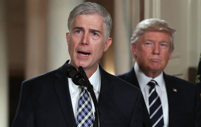 Supreme Court Justice nominee Neil Gorsuch and President Donald Trump.