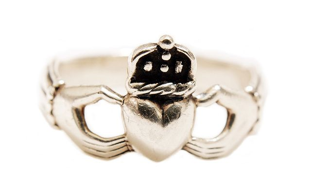 "The Irish ring, the Claddagh, symbolizes love, loyalty and friendship – ""Let Love and Friendship reign."""