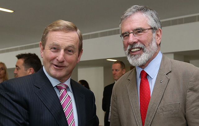Taoiseach Enda Kenny and Sinn Féin President Gerry Adams may both be in the White House this St. Patrick\'s Day.
