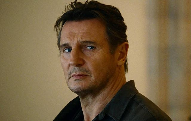 Liam Neeson as super dad Brian Mills in Taken.