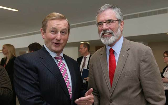 Enda Kenny and Gerry Adams.
