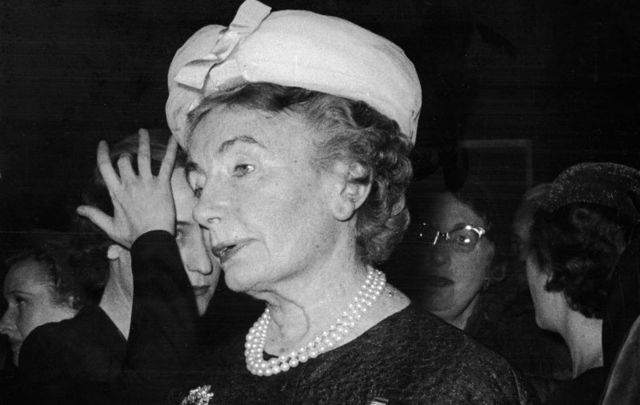 January 23, 1956: Carmel Snow at a party in London, England. \n