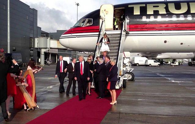 Trump arriving in Ireland in 2014.