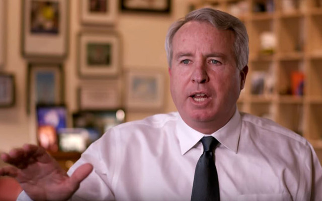 Chris Kennedy, a businessman and son of Robert F. Kennedy, throws his hat in the ring for governor of Illinois.