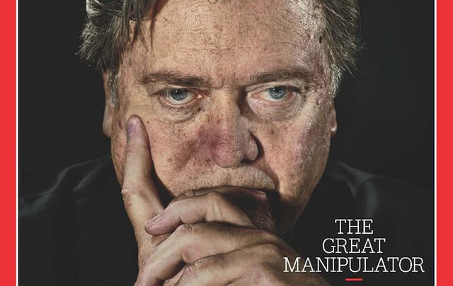 Donald Trump's Chief Strategist Steve Bannon on the cover of TIME magazine