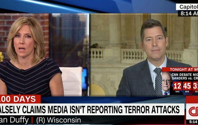 Congressman Sean Duffy clashed with CNN's Alisyn Camerota on Tuesday.