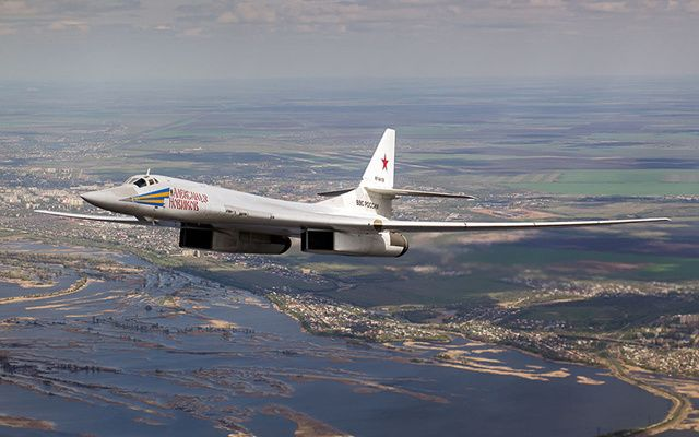 "A Tu-160 ""Blackjack"" - After a hiatus lasting some months, Russian bombers were today flying off the west coast of Ireland."