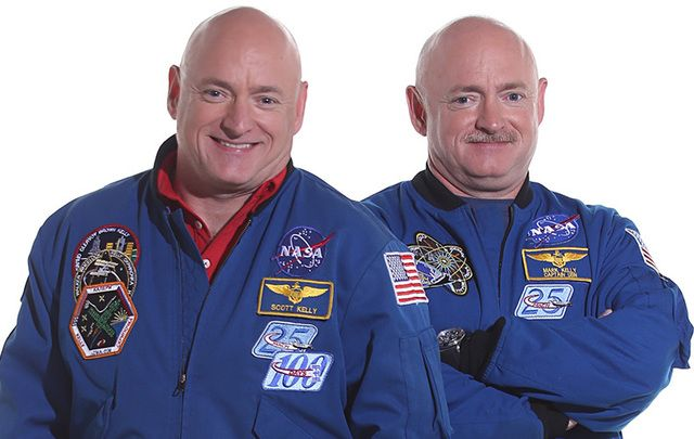 Irish American astronauts Mark and Scott Kelly make history. Never have two twins both spent so long in space.