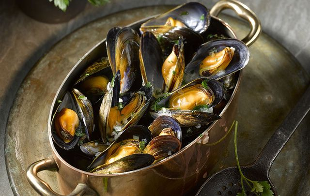Moules marinières: Irish Food Board promote mussels as quick and easy to prepare, great value, tasty and packed with nutrients.