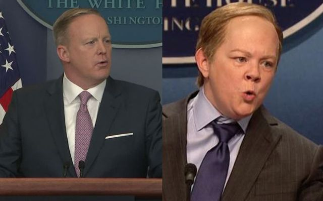 Melissa McCarthy has been killing it with her imitation of Trump Press Secretary Sean Spicer on Saturday Night Live.