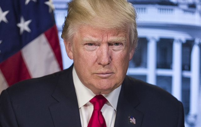 President Donald Trump's official White House portrait.