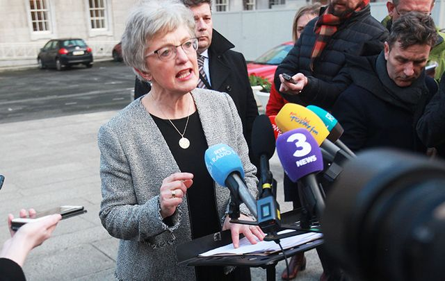 Minister for Children Katherine Zappone meets the press in Dublin on Monday.