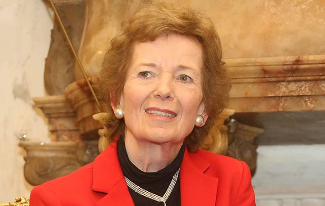 Former Irish President Mary Robinson.