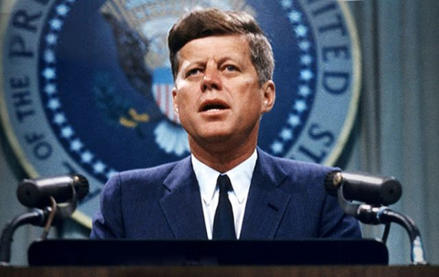 America's most famous Irish American President, John F. Kennedy, was a dashing young war hero who won two medals for bravery.