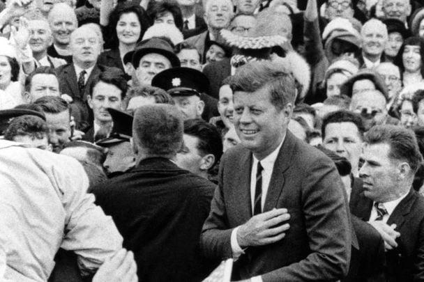 President John F Kennedy give his inauguration speech.