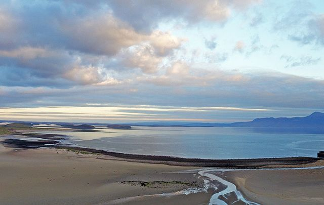 The stunning Mulranny Beach, County Mayo, close to the location of the Bronze Age shipwreck.