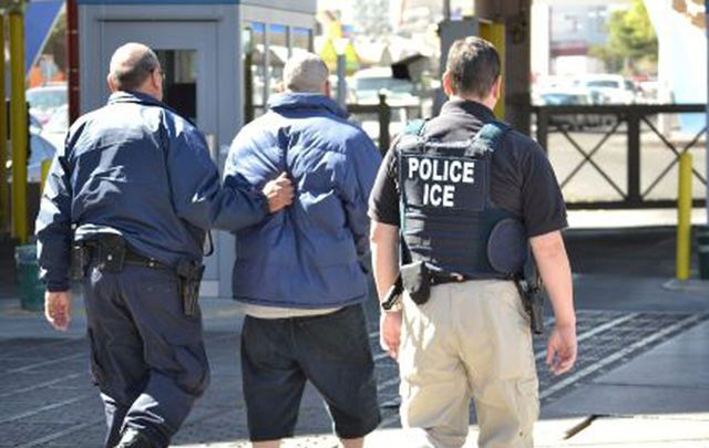 ICE arresting an alleged perpetrator: These are the times that try men's souls. America will prove bigger than the damaging Trump agenda and rise again.