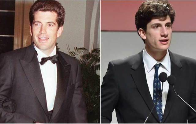 The Late John F Kennedy Jr And His Nephew Jack Schlossberg