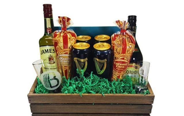 An Irish Car Bomb themed gift basket! If that was a joke it'd be in ill taste.